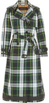 Burberry Tartan Cotton-gabardine Trench Coat - Green