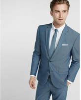 Express slim photographer blue micro dot cotton suit jacket