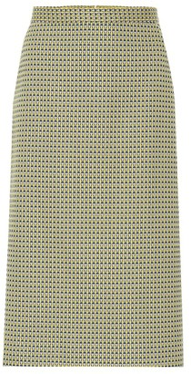Dries Van Noten Stretch-cotton jacquard skirt