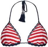 Anna Kosturova Sailor Sliding striped bikini top