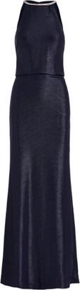 Ralph Lauren Metallic Halter-Neck Gown