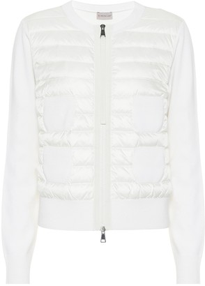 Moncler Quilted down cardigan
