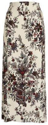Paco Rabanne Floral Midi Skirt