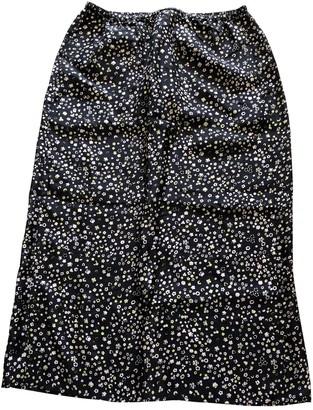 Humanoid Black Silk Skirt for Women