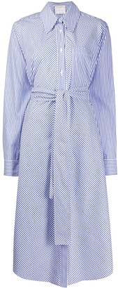 Stella McCartney Striped Tie-Waist Shirt-Dress