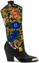 Versace baroque panel boots