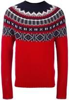 Moncler fair isle knit jumper