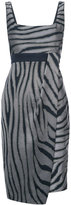 Kimora Lee Simmons zebra print dress