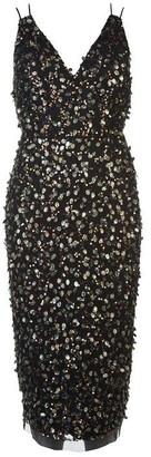 Adrianna Papell Adrianna Short Bead Dress Womens