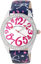 Betsey Johnson Women's Nautical Crystal Leather Watch