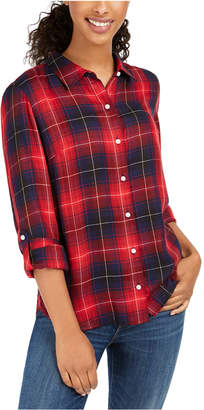 Tommy Hilfiger Plaid Utility Button-Up Shirt