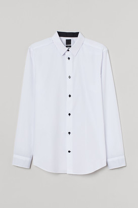 H&M Cotton-blend Shirt Slim fit
