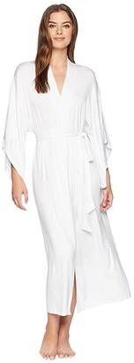 Eberjey Colette - Long Kimono Robe (White) Women's Robe