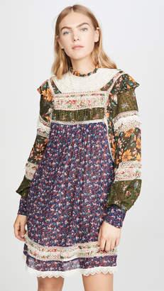 FARM Rio Mixed Liberty Mini Dress