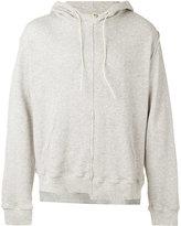 R 13 deconstructed hoodie - men - Cotton - XL