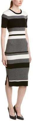 Olive + Oak Olive & Oak Women's Rib Column Stripe Sweater Dress