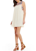 C & V Chelsea & Violet Sleeveless Embroidered Swing Dress