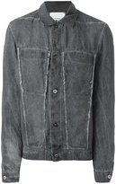Lost & Found Rooms - frayed denim jacket - men - Cotton/Linen/Flax - XXS