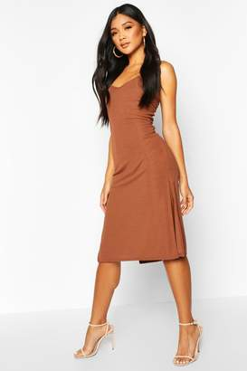 boohoo Rib Cami Slip Dress