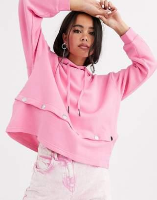 Noisy May long sleeve hoodie-Pink