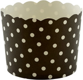 Container Store Large Baking Cups Dots Black Pkg/20