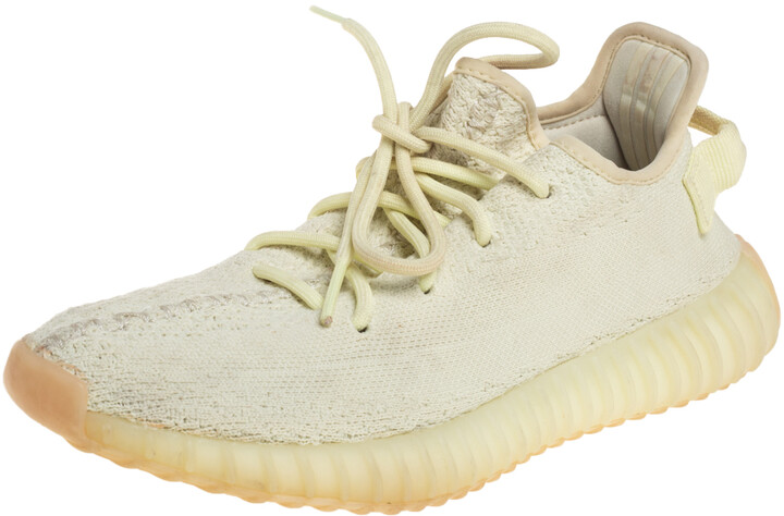 Yeezy x Adidas Knit Fabric Boost 350 V2 Butter Sneakers Size FR38 2/3