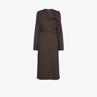 Lemaire Coa wrap wool coat