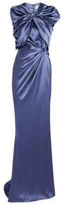 16Arlington Satin Kotobo Ruched Gown