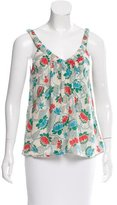 Marc by Marc Jacobs Sleeveless Floral Print Top