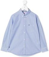 Sun 68 striped-print button-down shirt