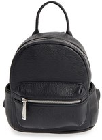 Street Level Faux Leather Backpack - Black