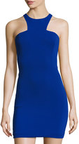 Jay Godfrey Racer-Front Body-Con Dress, Electric Blue