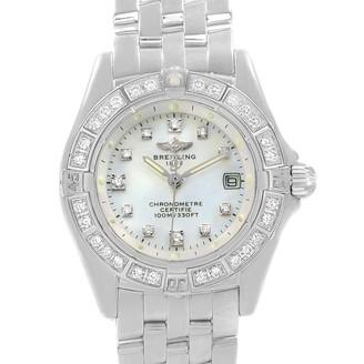 Breitling MOP 18K White Gold Diamond Callistino Women's Wristwatch 29MM