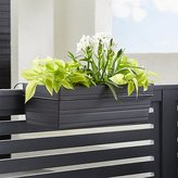Crate & Barrel Tidore Rectangular Rail Planter and Rail Planter Hook