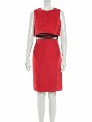 Oscar de la Renta 2017 Knee-Length Dress Red