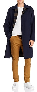 Rag & Bone Brent Regular Fit Reversible Felt Coat