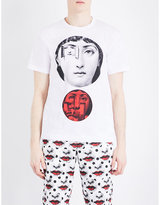 Comme Des Garcons Fornasetti-print Cotton-jersey T-shirt