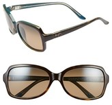 Maui Jim Women's Cloud Break 56Mm Polarizedplus2 Sunglasses - Maui Ht/ Tortoise