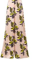 Roksanda Bohri Floral-print Silk-satin Wide-leg Pants - Pastel pink