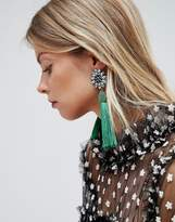 Asos Jewel Flower and Tassel Earrings