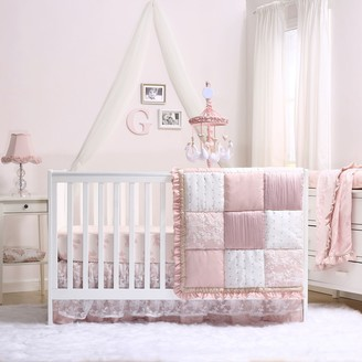 The Peanut Shell The Grace Patchwork 4-Piece Crib Bedding Set