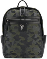 Giuseppe Zanotti Design Randy camouflage backpack - men - Leather/Polyester - One Size