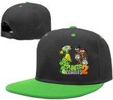AAWODE Kid's Plants Vs. Zombies Plain Adjustable Snapback Hats Caps