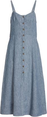 Three Graces London Audrey Gingham Midi Dress