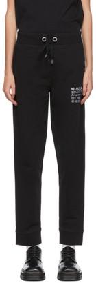 Helmut Lang Black Embroidered Masc Lounge Pants