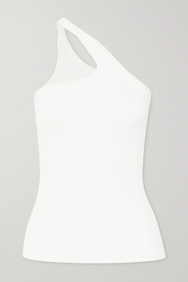 The Line By K Driss One-shoulder Ribbed Stretch-jersey Top - White