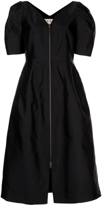 Marni Balloon Sleeve Zipped Dress