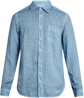120% Lino 120 LINO Button-cuff linen shirt