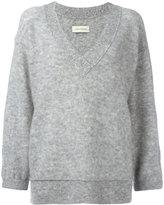 By Malene Birger loose-fit sleeves V-neck jumper - women - Polyamide/Spandex/Elastane/Wool/Kid Mohair - XXS