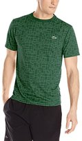 Lacoste Men's Sport Short Sleeve Ultra Dry Geometric Printed T-Shirt